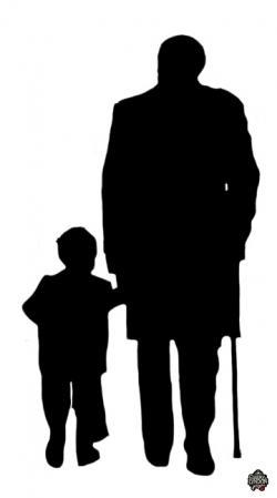 Shadow clipart grandpa