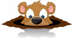 Groundhog clipart happy