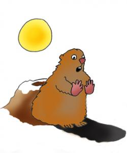 Groundhog clipart shadow