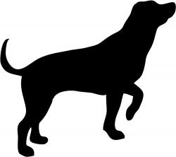 Shadows clipart hunting dog