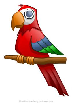 Shadows clipart parrot