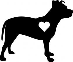 Shadows clipart pitbull