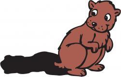 Groundhog clipart cartoon