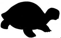 Turtoise clipart silhouette