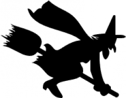 Shadows clipart witch