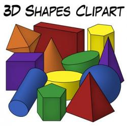 Mathematics clipart 3d shapes