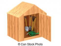 Garden clipart garden shed