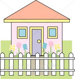 White House clipart picket fence