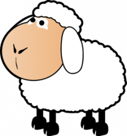 Colorful clipart sheep