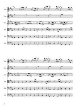 Sheet Music clipart string quartet