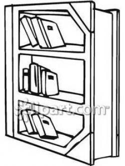 Bookcase clipart preschool