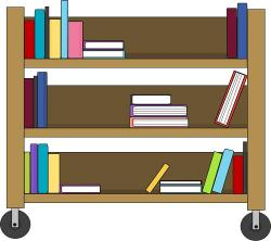 Bookcase clipart library class