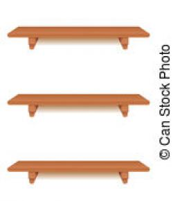 Shelf clipart wall shelf