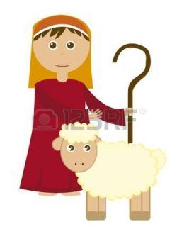 Shepherd Boy clipart lamb