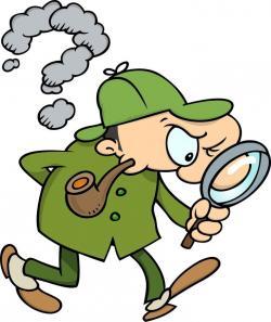 Sherlock Holmes clipart careful