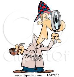 Sherlock Holmes clipart cartoon