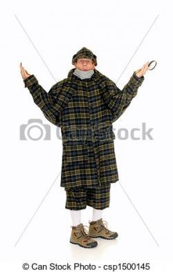 Sherlock Holmes clipart crime scene