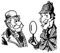 Sherlock Holmes clipart drawing