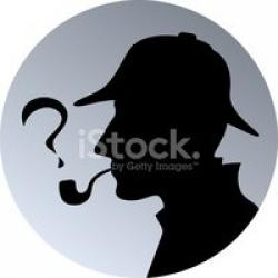 Sherlock Holmes clipart question mark