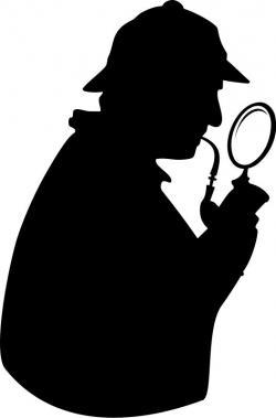 Sherlock Holmes clipart silhouette