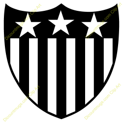 Shield clipart stars and stripes