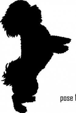 Shih Tzu clipart black and white