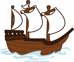 Pilgrim clipart mayflower ship