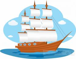 Sailing Boat clipart ship sailing