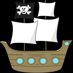 Sailboat clipart pirate