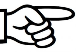 Shocking clipart finger pointing