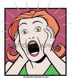 Shocking clipart shocked woman