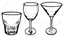 Drawn glasses vector art