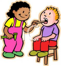 Child clipart playing doctor