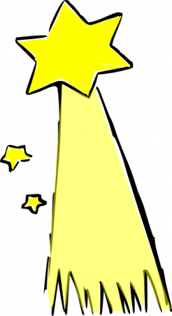 Comet clipart shooting star