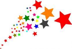 Falling Stars clipart shining star