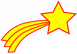 Star clipart comet