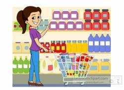 Women clipart grocery shopping