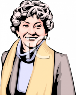 Short Hair clipart middle aged woman