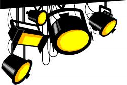 Musical clipart camera light
