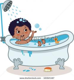 Bathroom clipart boy bath