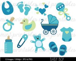 Footprint clipart baby carriage