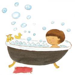Foam clipart bath shower