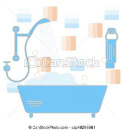 Foam clipart bathroom shower