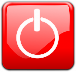Shutdown Button clipart action button