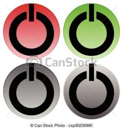 Shutdown Button clipart cool power