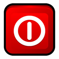 Shutdown Button clipart icon
