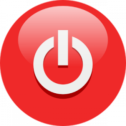 Shutdown Button clipart sign