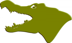 Head clipart alligator