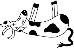 Cow clipart died