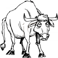 Dying clipart sick cow